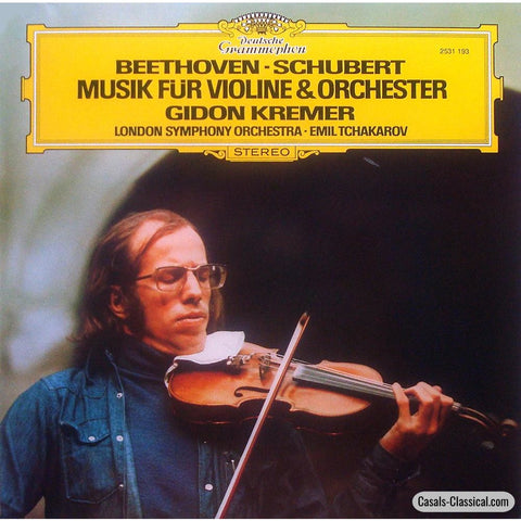 Kremer: Schubert Works For Violin & Orchestra + Beethoven - Dg 2531 193 Lp