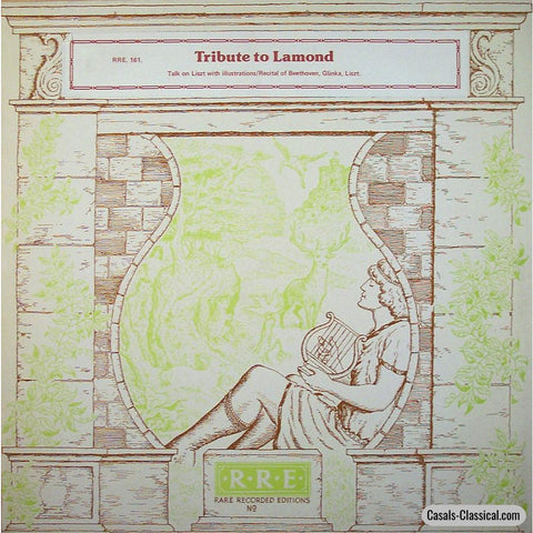 Tribute To Frederic Lamond (Liszt Pupil) - Rare Recorded Editions Rre 161 Lp