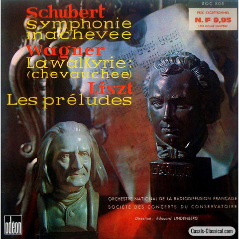Lindenberg: Schubert Unfinished Liszt Les Preludes Etc. - Odeon Xoc 805 Lp