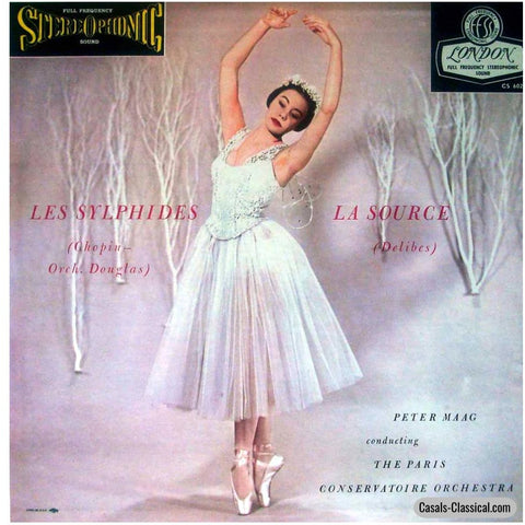 Maag: Delibes La Source / Chopin-Douglas Les Sylphides - London Cs 6026 Lp