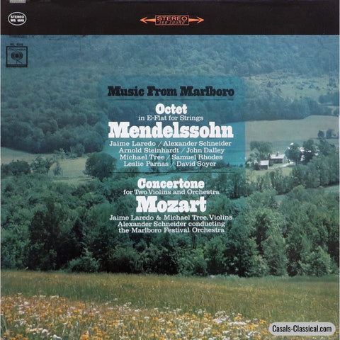 Music From Marlboro: Mendelssohn Octet Etc. - Columbia Ms 6848 Lp