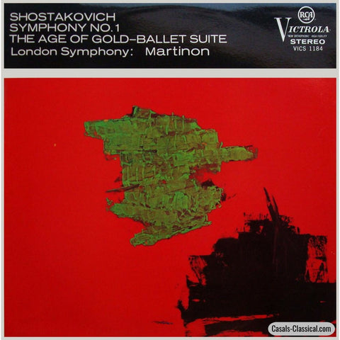 Martinon: Shostakovich Symphony No. 1 + Age Of Gold Suite - Rca Vics-1184 Lp