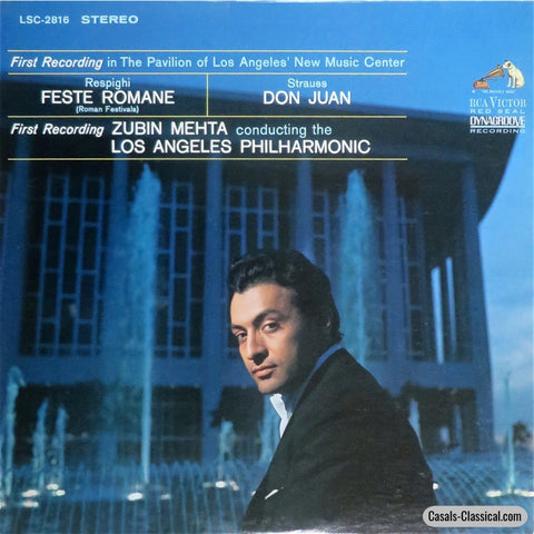 Mehta/lapo: Respighi Pines Of Rome + Strauss Don Juan - Rca Lsc-2816 Lp