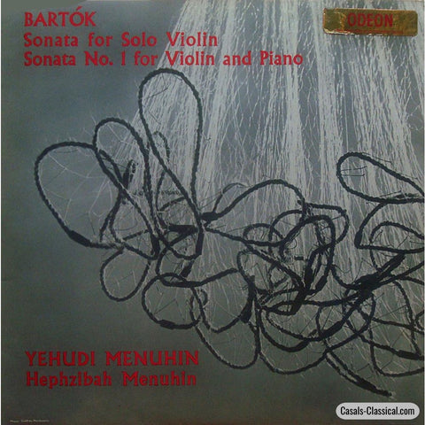 Menuhin: Bartok Sonata For Solo Violin + No. 1 & Piano - Odeon 80544 Lp