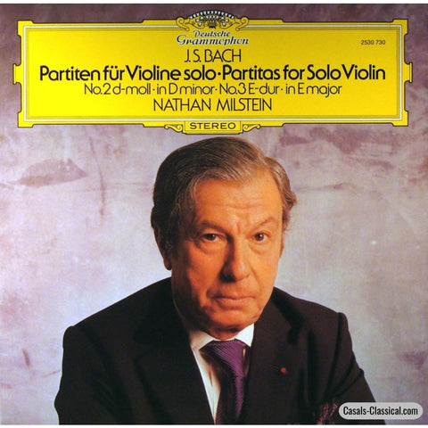 Milstein: Bach Partitas For Violin Solo Nos. 2 & 3 - Dg 2530 730 Lp