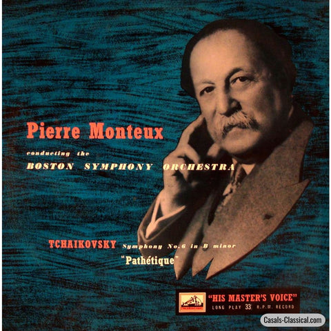 Monteux/bso: Tchaikovsky Pathetique Symphony - His Masters Voice Alp 1356 Lp
