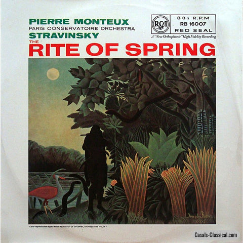 Monteux/paris Conservatoire O: Stravinsky The Sacred Rite Of Spring - Rca Rb 16007 Lp