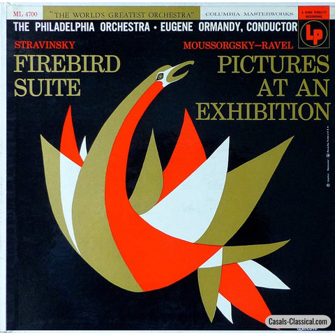 Ormandy: Firebird + Pictures At An Exhibition - Columbia Ml 4700 Lp