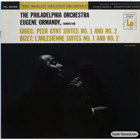 Ormandy: Grieg Peer Gynt / Bizet Larlesienne Suites - Columbia Ml 5035 Lp