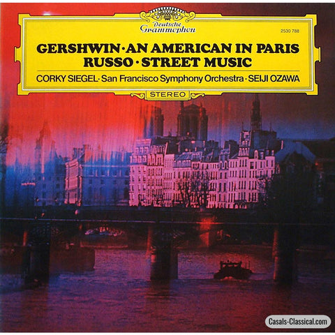 Ozawa: Russo Street Music + Gershwin An American In Paris - Dg 2530 788 Lp