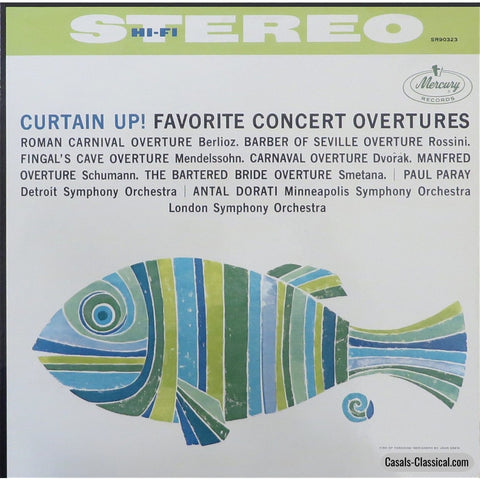 Curtain Up!- Paray & Dorati Conduct Favorite Concert Overtures - Mercury Sr90323 Lp