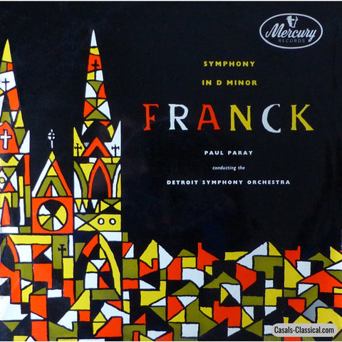 Paray: Franck Symphony In D Minor - Mercury Mrl 2511 Lp