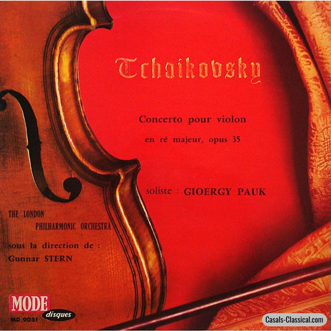 Gyorgy Pauk: Tchaikovsky Violin Concerto In D Op. 35 - Mode Md 9051 Lp