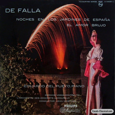 Pueyo: Falla Nights In The Gardens Of Spain Etc. - Philips S 04028 L Lp
