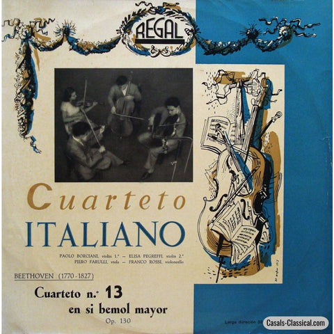 Quartetto Italiano: Beethoven String Quartet No. 13 Op. 130 - Regal 33Lcx 124 Lp