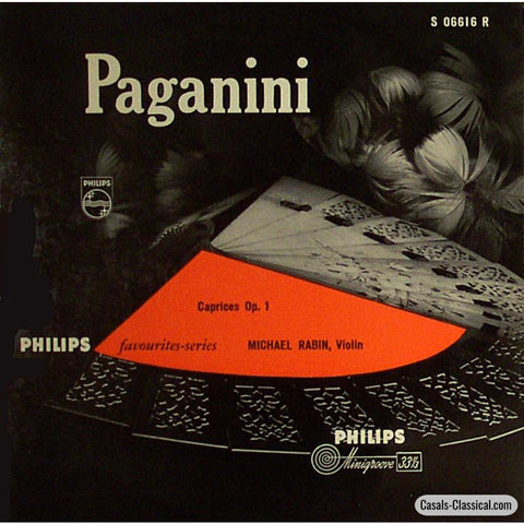Rabin: Paganini Caprices Op. 1 (Selections) - Philips S 06616 R Lp