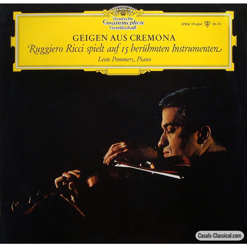 Ricci/pommers: The Glory Of Cremona (15 Great Violins) - Dg Lpem 19464 Lp