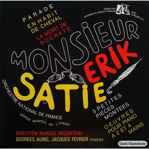 Rosenthal: Satie Parade Le Morte De Socrate Etc. - Ades 7023 (2Lp Set) Lp
