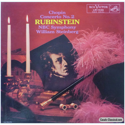 Rubinstein/steinberg: Chopin Piano Concerto No. 2 Op. 21 - Rca Lm-1046 Lp