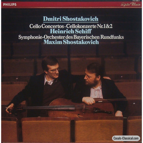 Schiff: Shostakovich Cello Concertos Nos. 1 & 2 - Philips 412 526-1 Lp