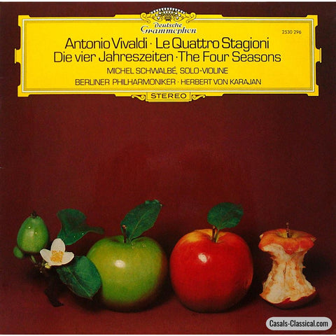 Schwalbe/karajan: Vivaldi The Four Seasons - Dg 2530 296 Lp