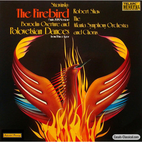 Shaw/atlanta So: Stravinsky Firebird Suite + Borodin - Telarc Dg-10039 Lp