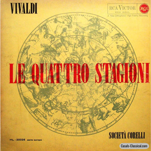 Società Corelli: Vivaldi The Four Seasons - Rca Ml-20026 Lp