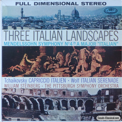 Steinberg/pittsburgh So: Three Italian Landscapes - Capitol Sp 8515 Lp
