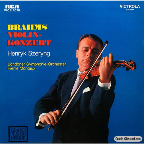 Szeryng/monteux: Brahms Violin Concerto In D Major Op. 77 - Rca Vics-1028 Lp
