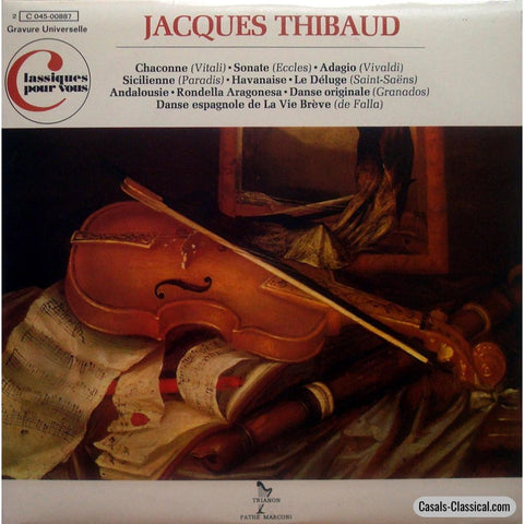 Thibaud: Violin Works (Electrical Recordings 1927-1936) - Emi / Trianon 045-00887 Lp