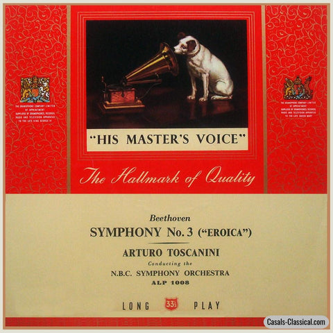Toscanini: Beethoven Symphony No. 3 Eroica - His Masters Voice Alp 1008 Lp