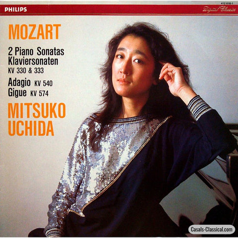 Uchida: Mozart Piano Sonatas K. 330 & 333 Etc. - Philips 412 616-1 Lp