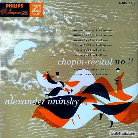 Uninsky: Chopin Recital No. 2 - Philips A 00653 R (10 Lp) Lp
