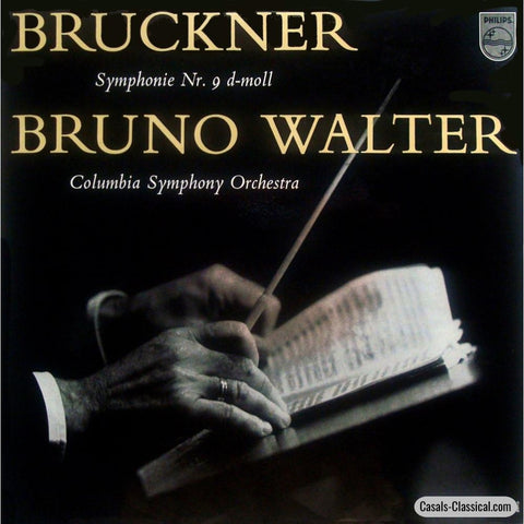 Walter/columbia So: Bruckner Symphony No. 9 - Philips A 01468 L Lp