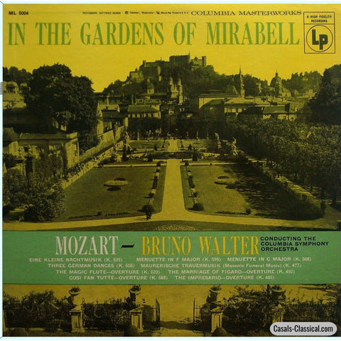 Walter: In The Gardens Of Mirabell (Mozart K. 525 + Ovs.) - Columbia Ml 5004 Lp