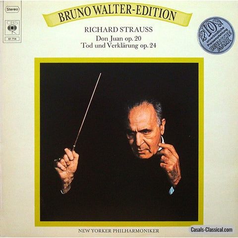 Walter/nypo: R. Strauss Death & Transfiguration + Don Juan - Cbs 61 714 Lp