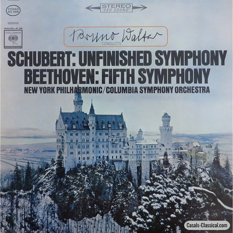 Walter: Schubert Unfinished + Beethoven No. 5 Symphonies - Columbia Ms 6506 Lp