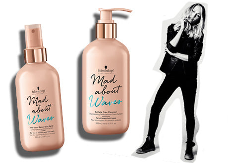 Schwarzkopf Professional Mad About Waves Product Range Banner