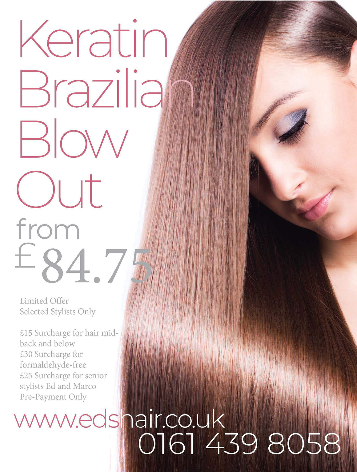 Brazilian Blow Dry January 2020 Promotion at Eds Hair Bramhall - Home of The Brazilian Blow Dry