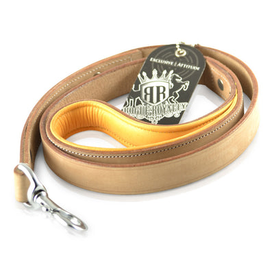 Leather Dog Leash - Buckskin