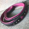 "Leather Dog Leash - ""Queen of Hearts"""