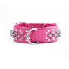 "Dog Collars - Spiked Leather Dog Collars ""Gladiator"" Pink"