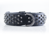 Dog Collar - Ruthless Black (flat studs)