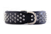 Dog Collar - Imperial Black Diamond (Flat Cone Studs & Black Lining)
