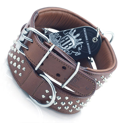 Ultra Strong Leather Studded Dog Collars