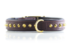 Dog Collar - Ruthless Brown & Brass Slimfit