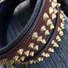 Dog Collar - Ruthless Brown Leather & Brass