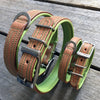 Dog Collar - Tuscan Rogue Tan|Green