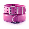 Leather Dog Collars - Classic Pink