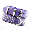 Dog Collar - Imperial Purple Diamond (Flat Cone Studs & Purple Lining)